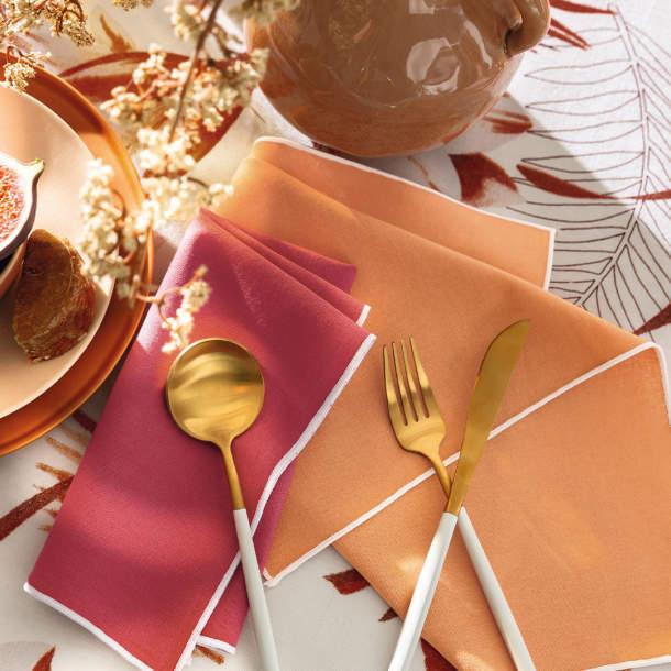 Serviette de table - Serviettes de table unies